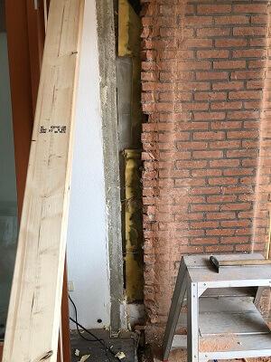 Voorbeeld muur slopen uitbouw keuken