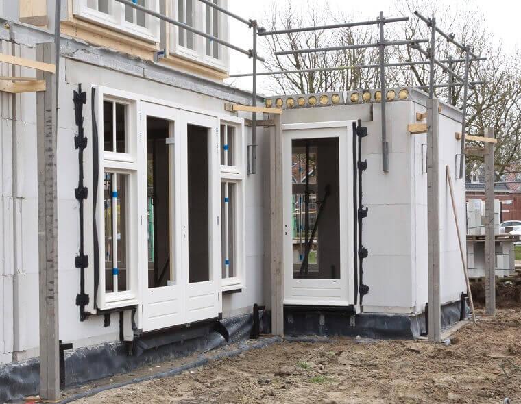 Voorbeeld uitbouw bouwen